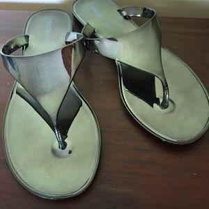 BCBGMAXAZRIA Metallic Jelly Sandals